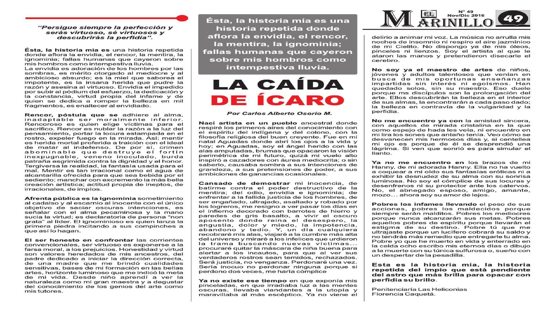 LA CAÍDA DE ÍCARO MAESTRO CARLOS OSORIO ~ PINTURAS DE JALAR
